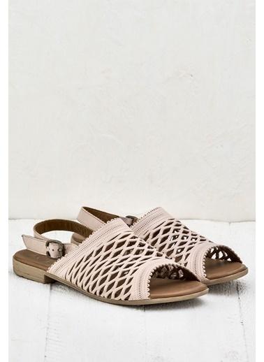 Elle Deri Sandalet Pudra